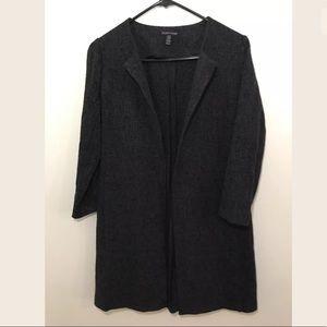 Eileen Fisher ClassyBlack Sleeve Open Front Blazer